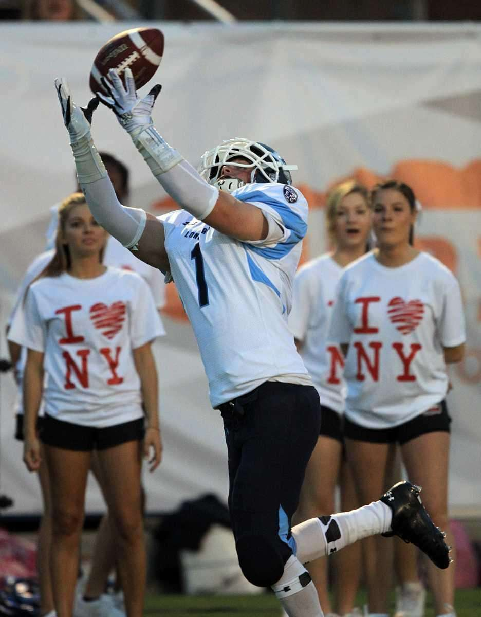 Long Island wide receiver Ryan Sliwack's (1) pass