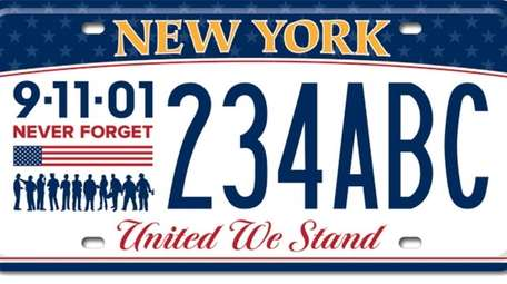 The state DMV unveiled a commemorative license plate