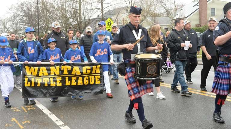 Wantagh Little League opening day parade on Saturday.