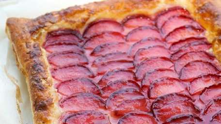 This plum and puff pastry tart makes a