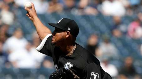 Ivan Nova #46 of the Chicago White Sox