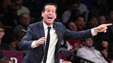 Coach Kenny Atkinson, shown here April 3, 2019,