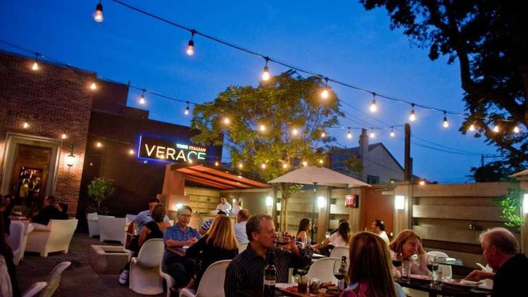 Customers at Verace in Islip can eat on