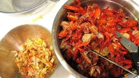 The results of shelling 3 pounds of crawfish: