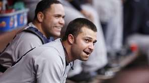 Nick Swisher #33 and Russell Martin #55 of