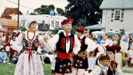 An undated photo taken of Krakow costumes and