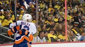 Brock Nelson #29 of the New York Islanders