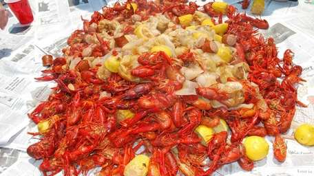 Crawfish take center stage at the CrawfishNY festival.