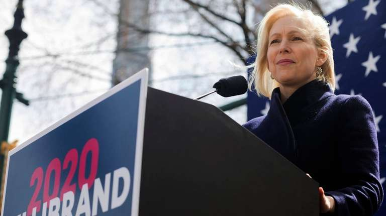 Sen. Kirsten Gillibrand, above, at her presidential campaign