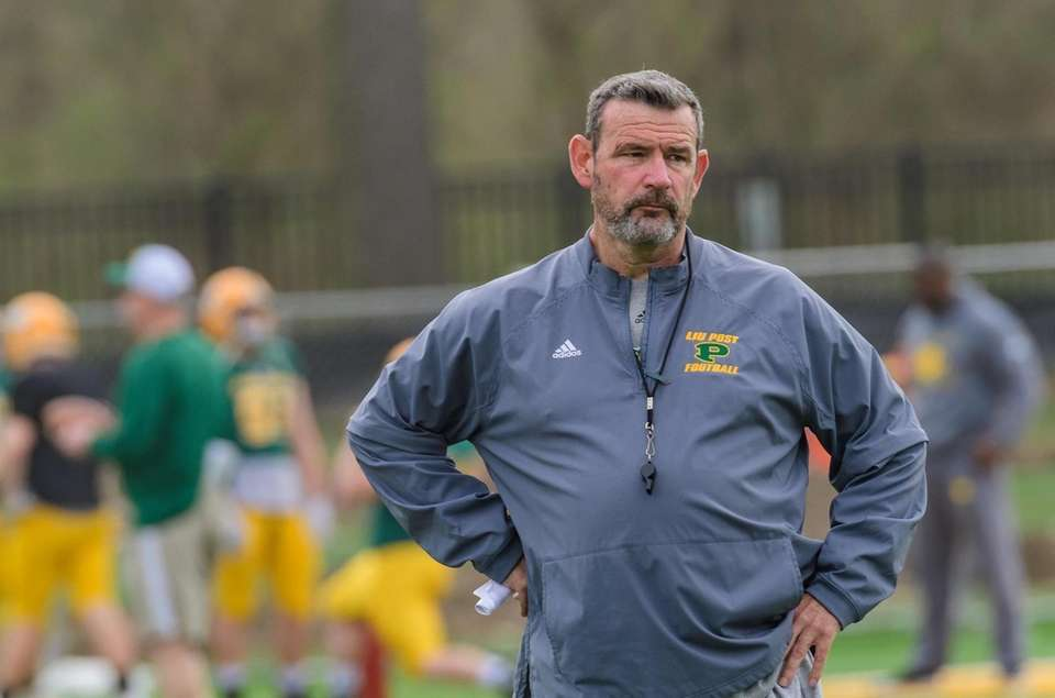 Head Coach Bryan Collins during the LIU Post