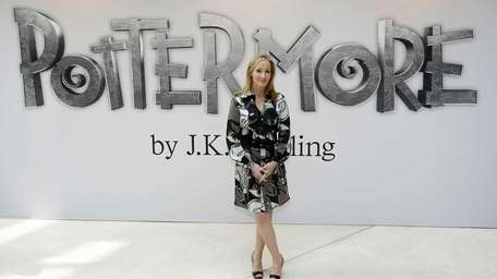 British author J.K. Rowling announces her new website