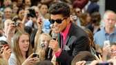"Singer Bruno Mars performs on NBC's ""Today"" show"