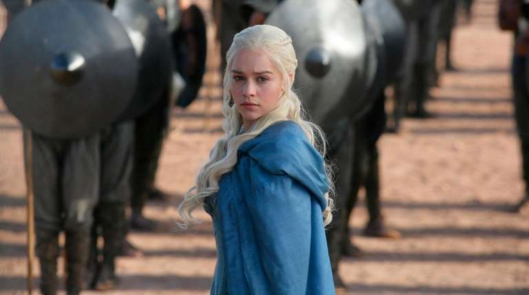 Daenerys Targaryen (played by Emilia Clarke) in a