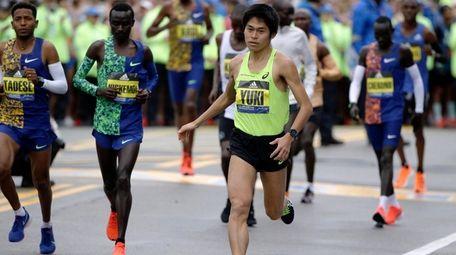 Yuki Kawauchi, winner of the 2018 Boston Marathon,