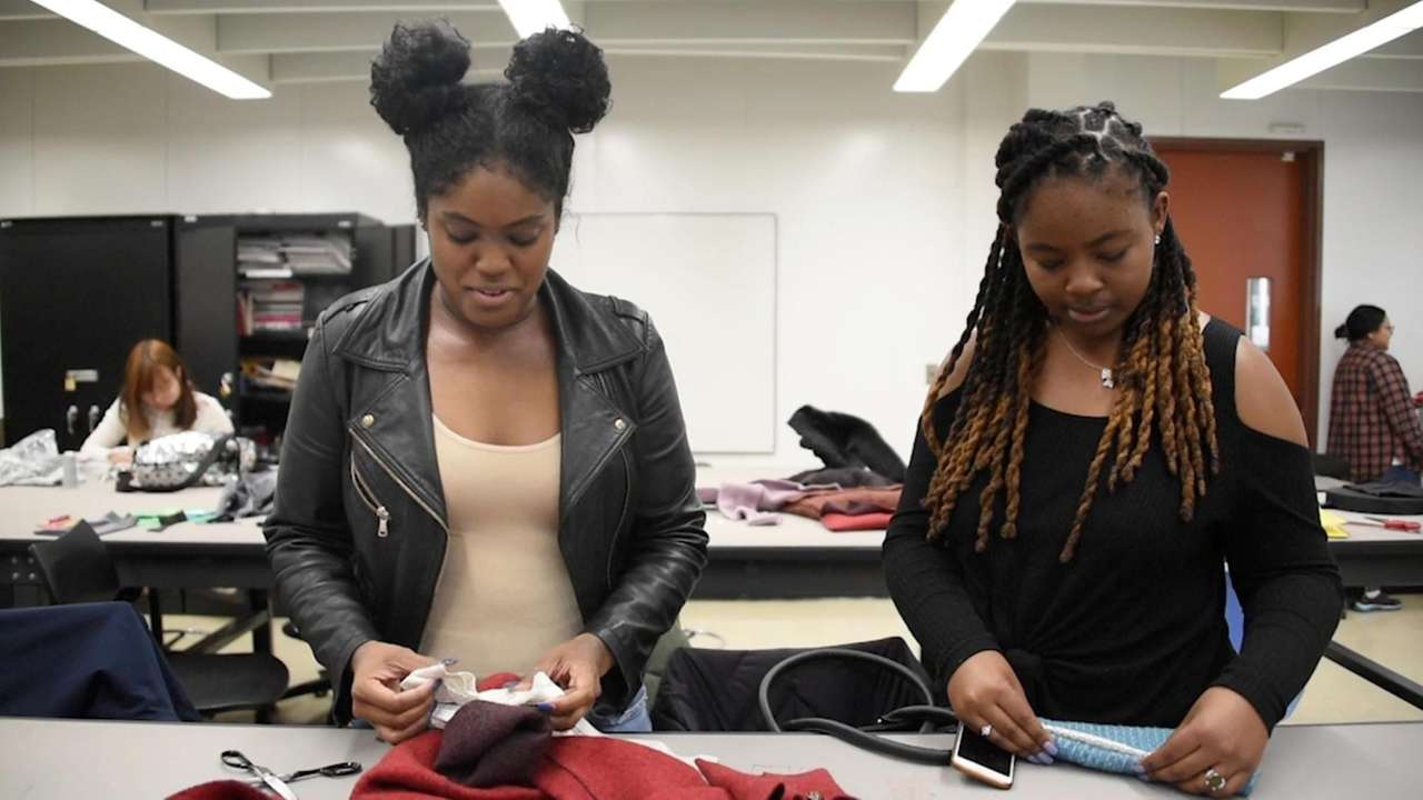 Members of the Fashion Design Club of Nassau Community
