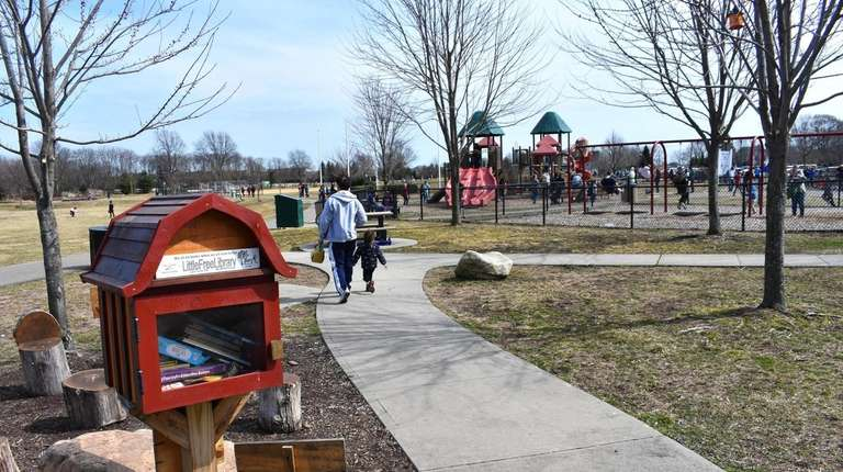 A view of the playground on March 30