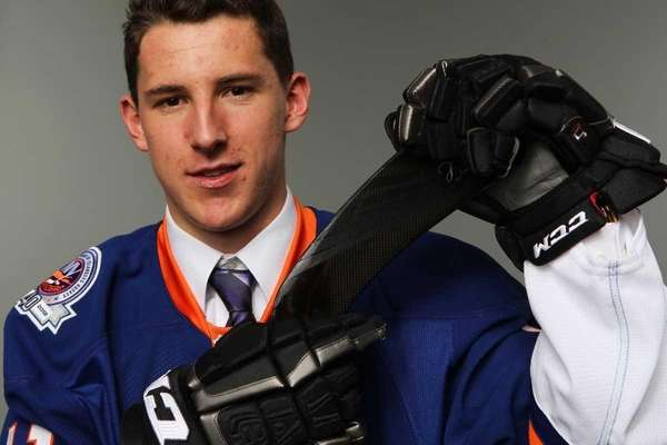 Fifth overall pick Ryan Strome poses for a