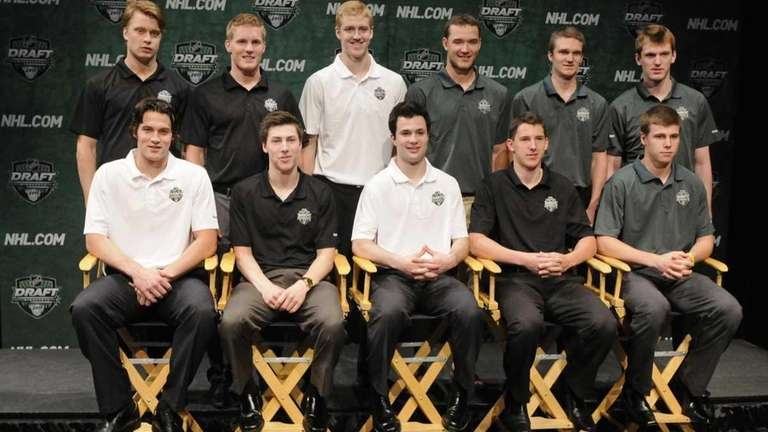 Top NHL hockey draft prospects pose for a