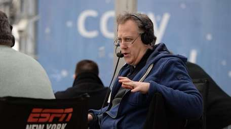 Michael Kay on the set of his ESPN