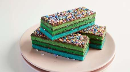 Rainbow bars at Baked by the Ocean in