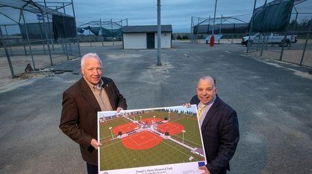 Smithtown Councilman Thomas Lohmann and parks Director Joe