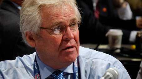 Rangers GM Glen Sather is seen in this