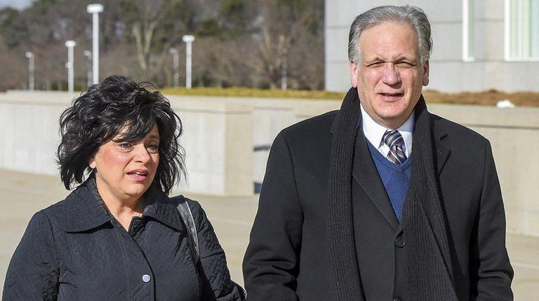 Linda and Edward and Mangano arrive at federal