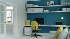 Studies show that painting an office blue improves