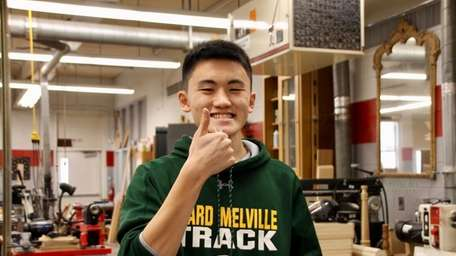 Justin Zhang, a junior at Ward Melville High