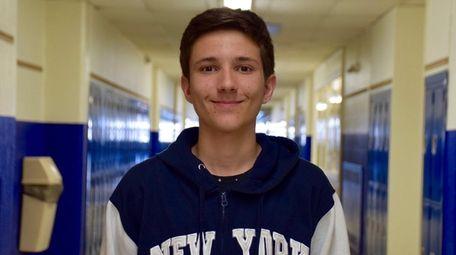 Gary Nepravishta, a freshman at Division Avenue