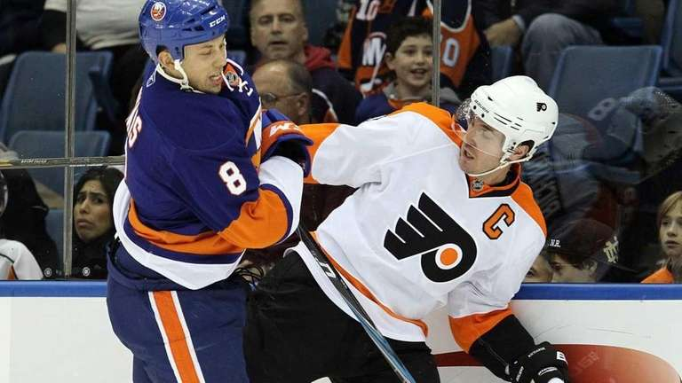 The Islanders traded Bruno Gervais, left, to the
