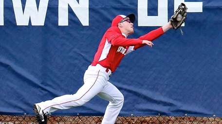 Center Moriches right fielder Dylan Bryant makes the