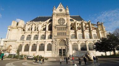Saint-Eustache church in Paris. You can hear its
