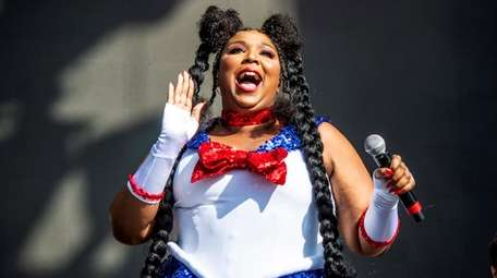 Lizzo performs at the Voodoo Music Experience in