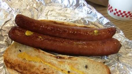 Five Guys hot dog