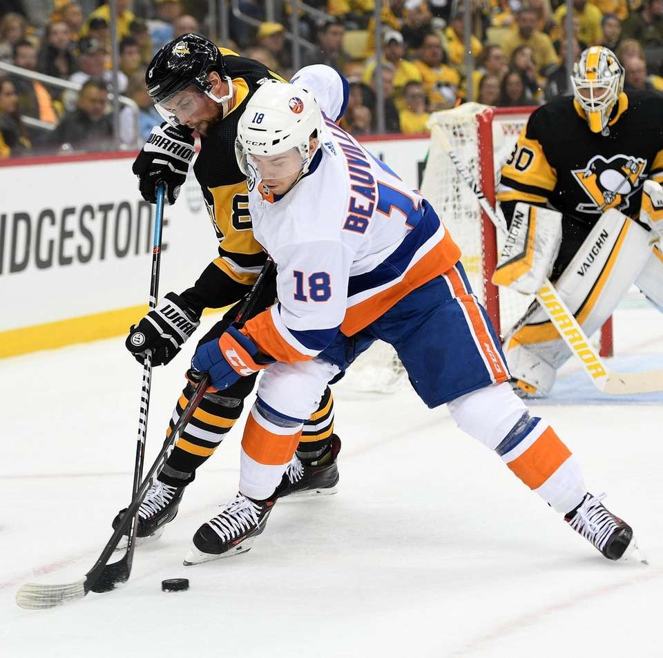 PITTSBURGH, PA - APRIL 16: Anthony Beauvillier #18