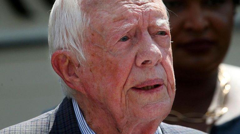 Former President Jimmy Carter in Plains, Ga., in