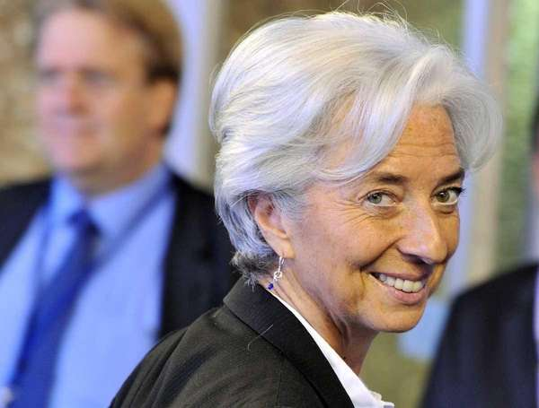 French Finance Minister Christine Lagarde arrives for a