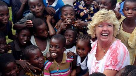 Kim Hardwick on a trip to Ghana in