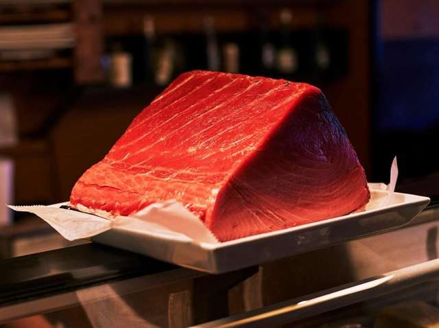A large and coveted piece of tuna at