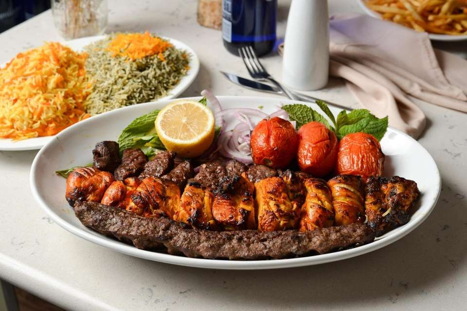 The Colbeh Kings Combo, with Joujeh grilled chicken