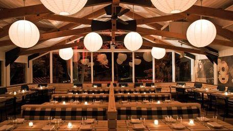 Ruschmeyer's restaurant dining room in Montauk. (June 2011)