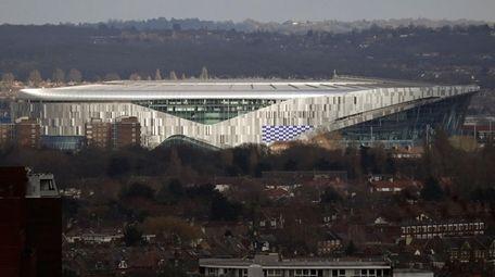 The new Tottenham Hotspur stadium in north London