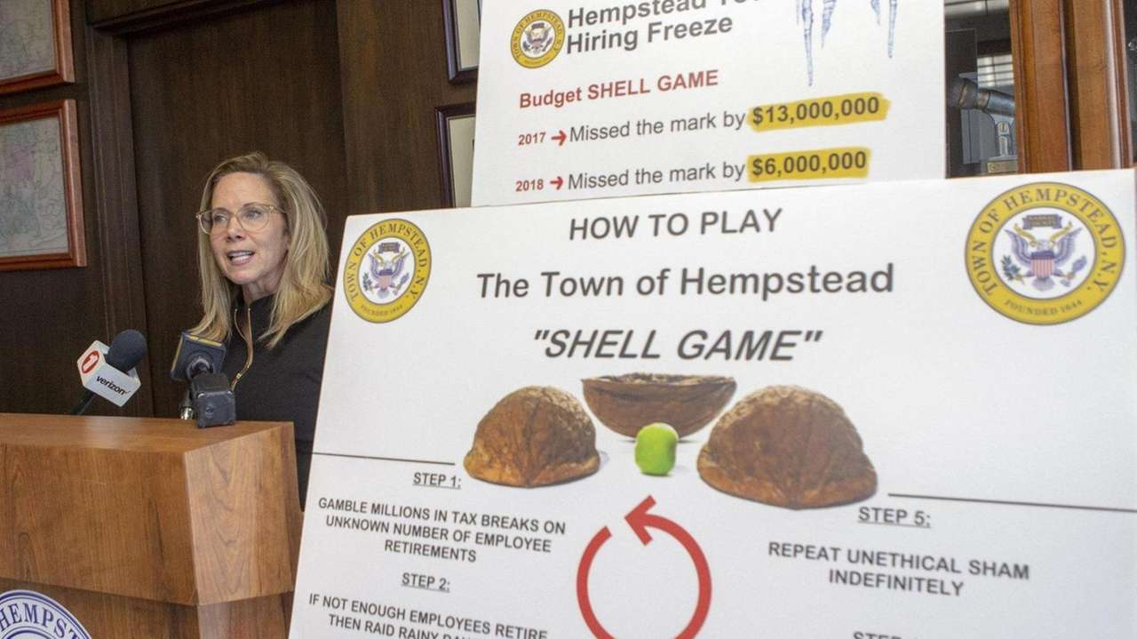 Hempstead Town Supervisor Laura Gillen Wednesday morning called for