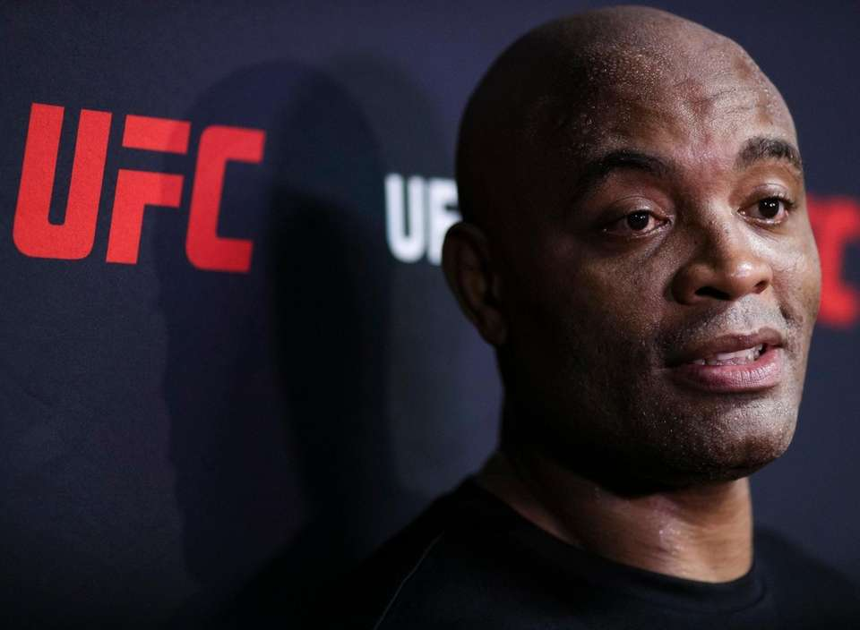 UFC middleweight fighter Anderson Silva of Brazil answers