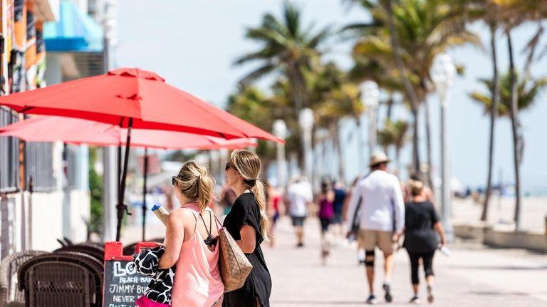 Many consider the Hollywood Boardwalk near Miami to
