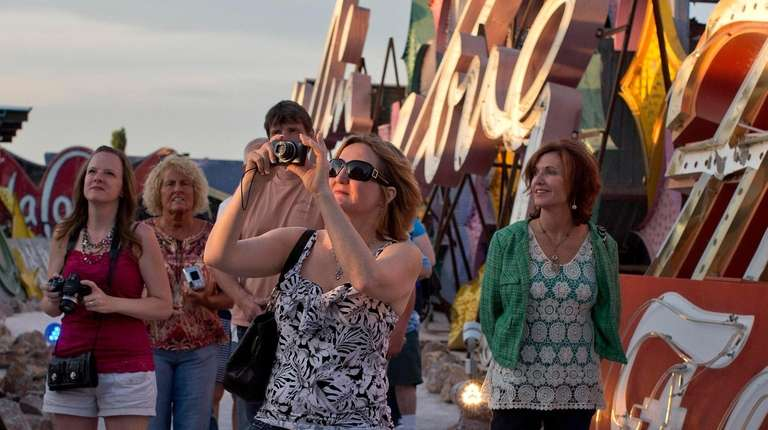 The Neon Museum in Las Vegas showcases a