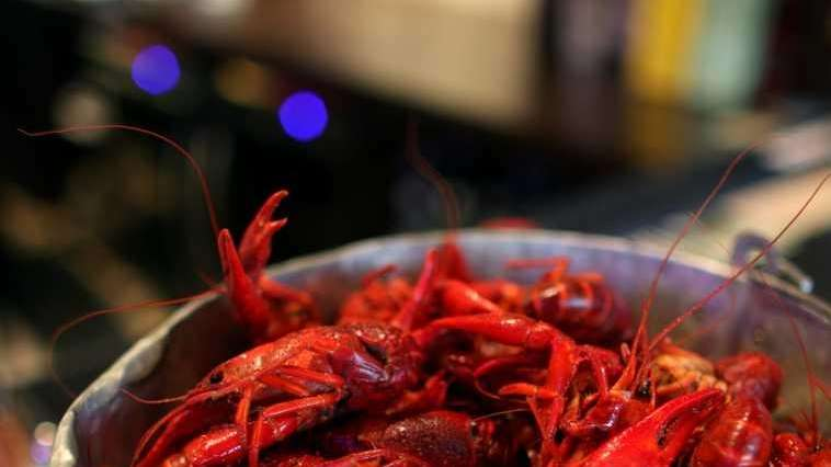 A bucket of crawfish at Mara's Homemade in