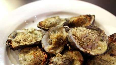 Char-grilled oysters are served at Mara's Homemade, a