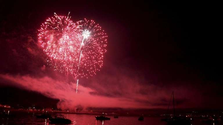 Fourth of July fireworks explode over Oyster Bay